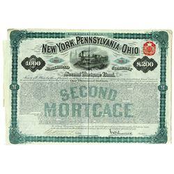 New York, Pennsylvania, and Ohio Railroad Co, 1880 I/U Bond