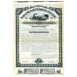 Wabash, Saint Louis and Pacific Railway Co., 1881 Specimen Bond