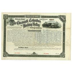 Cincinnati, Columbus and Hocking Valley Railway Co., 1882 Specimen Bond Rarity