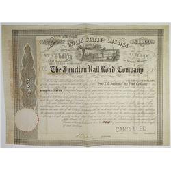 Junction Rail Road Co., 1852 I/C Bond