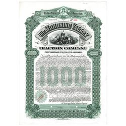 Mahoning Valley Traction Co. 1899 Proof Bond
