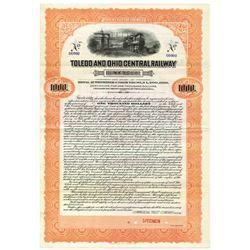 Toledo and Ohio Central Railway Equipment Trust of 1917 Specimen Bond