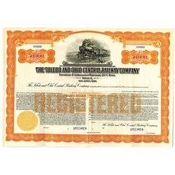 Toledo and Ohio Central Railway Co., 1935 Specimen Bond