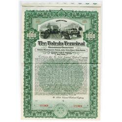 Toledo Terminal Railroad Co. 1907 Specimen Bond