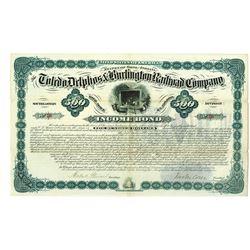 Toledo, Delphos & Burlington Railroad Co., Southeastern Division, 1881 I/U Bond