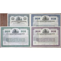 Cleveland and Pittsburgh Railroad Co., 1933 Specimen Bond Quartet with Updated Gold Clause.