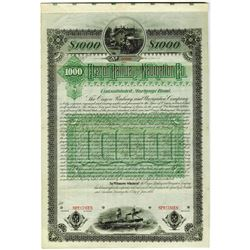 Oregon Railway and Navigation Co., 1885 Unique Specimen Bond Rarity For Use in Germany