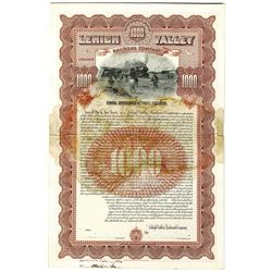 Lehigh Valley Railroad Co. 1913 Unique Approval Proof Bond