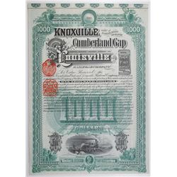 Knoxville, Cumberland Gap and Louisville Railroad Co. 1888 Bond