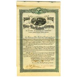 Kona and Kau Railway Co., Ltd. 1902 I/U Bond