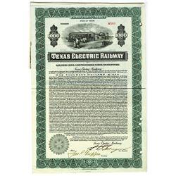 Texas Electric Railway 1917 I/C Bond