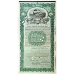 Wichita Falls & Southern Railway Co., 1908 I/C Bond