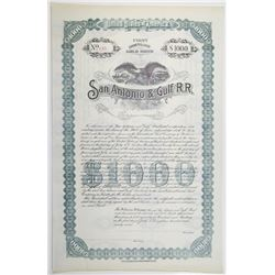 San Antonio & Gulf Railroad 1897 U/U Bond