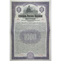 Central Pacific Railway Co., 1925, SPECIMEN $1000 Coupon Bond ABNC