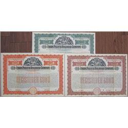 Union Pacific Railroad Co. 1907 Specimen Bond Trio.