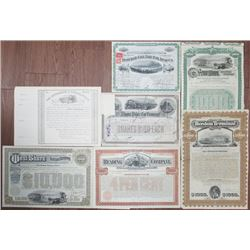 Group of 7 Railroad Stocks and Bonds