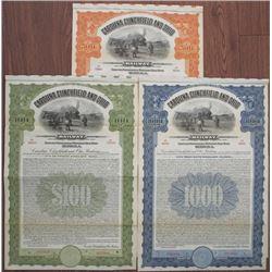 Carolina, Clinchfield and Ohio Railway, 1922 Specimen Bond Trio