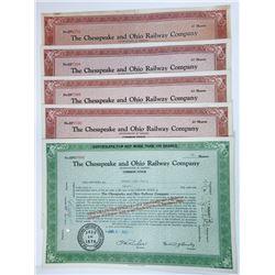 Chesapeake and Ohio Railway Co., 1960-1962 I/C Stock Certificates