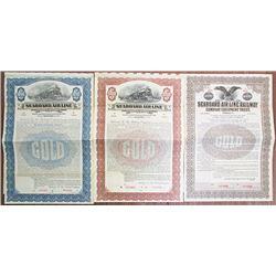 Seaboard Air Line Railway Co., 1915 to 1922 Specimen Bond Trio