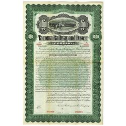 Tacoma Railway and Power Co., 1899 Specimen Bond Rarity