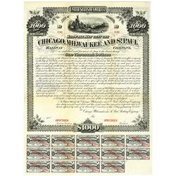 Chicago, Milwaukee and St. Paul Railway Co., 1880 Specimen Bond
