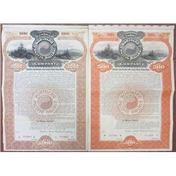 Northern Pacific Railway Co., 1896 Specimen Bond Pair