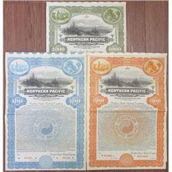 Northern Pacific Railway Co., 1923 Specimen Bond Trio