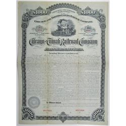 Chicago and Tomah Railroad Co. 1880 Specimen Bond Rarity