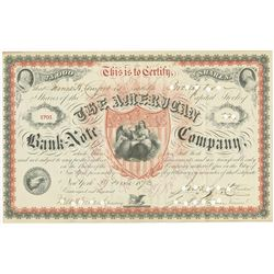 American Bank Note Company, 1873 Stock Certificate Rarity.