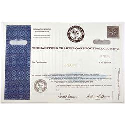 Hartford Charter Oaks Football Club, Inc., 1964 Specimen Stock Certificate.
