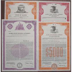 State of Alaska, 1973 to 1989 Government Specimen Bond Quartet