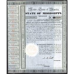 State of Mississippi 1833 I/U Bond.