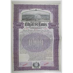 City of St. Louis 1908 Specimen Bond
