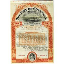 City of Cincinnati, 1897 Specimen Bond