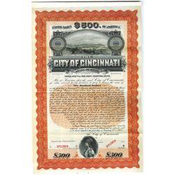 City of Cincinnati, 1903 Specimen Bond