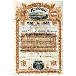 City of Portland 1887 Specimen Water Loan Bond