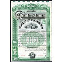 Rhode Island and Providence Plantations, 1894 Specimen Bond.