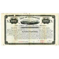 State of Rhode Island and providence Plantations, City of Providence 1875 Specimen Bond Rarity