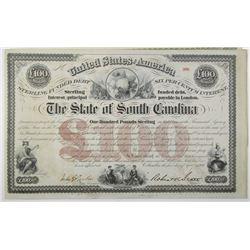 State of South Carolina, 1871 to 1880's Bond Pair