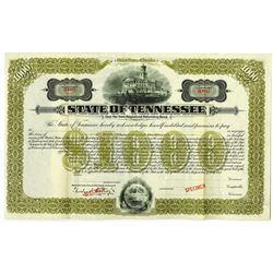 State of Tennessee 1913 Specimen Bond