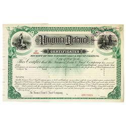 Virginia Deferred Certificates, 1882 Specimen Bond.