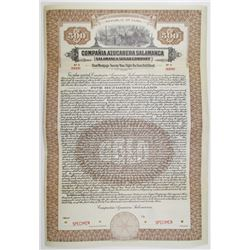 Salamanca Sugar Co. 1923 Specimen Bond