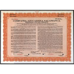 Salamanca Sugar Co., 1923 Specimen Stock Certificate.