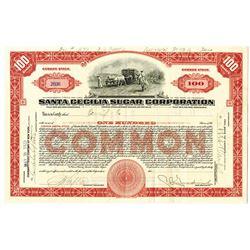 Santa Cecilia Sugar Corp. 1923 I/U Stock Certificate