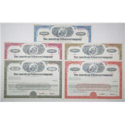 American Tobacco Co., 1967 Specimen Registered Bond Quintet