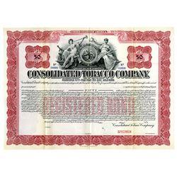 Consolidated Tobacco Co. 1901 Specimen Bond