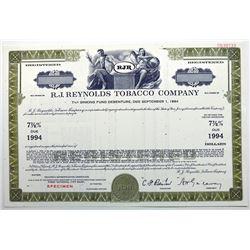 R.J. Reynolds Tobacco Co. 1969 Registered Bond.