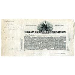 Holly Sugar Corp. 1920 Progress Proof Stock Certificate