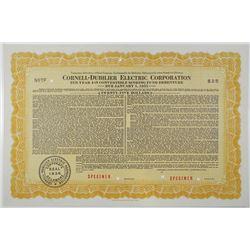 Cornell-Dubilier Electric Corp. 1942 Specimen Bond