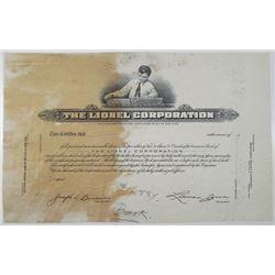 Lionel Corp. Progress, 1930-50's Progress Proof Stock Certificate